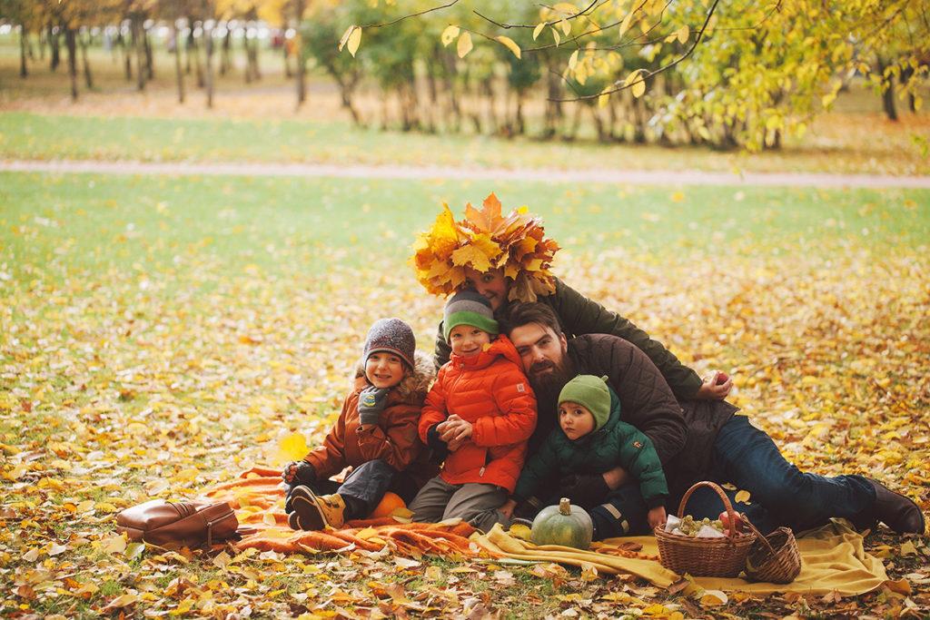 осень семья Лена Леонова